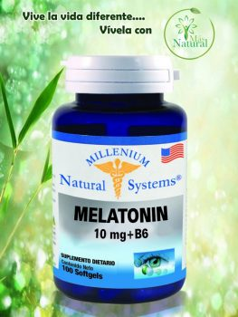 Melatonin 10 mg   b6 100 softgels millenium – natural system