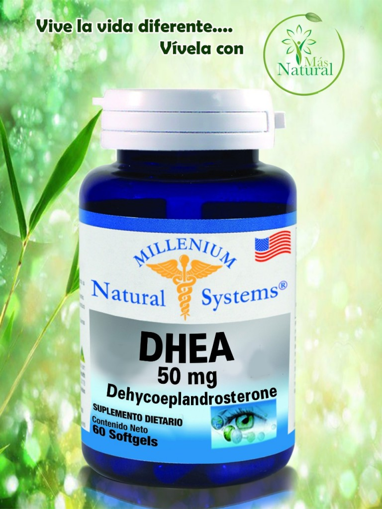 DHEA 50 mg Dehycoeplandrosterone 60 softgels MILLENIUM – Natural System