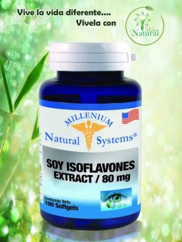 Soy isoflavones extract \80 mg 100 softgels  millenium – natural system