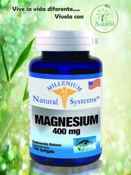 Magnesium 400 mg 100 softgels  millenium – natural system