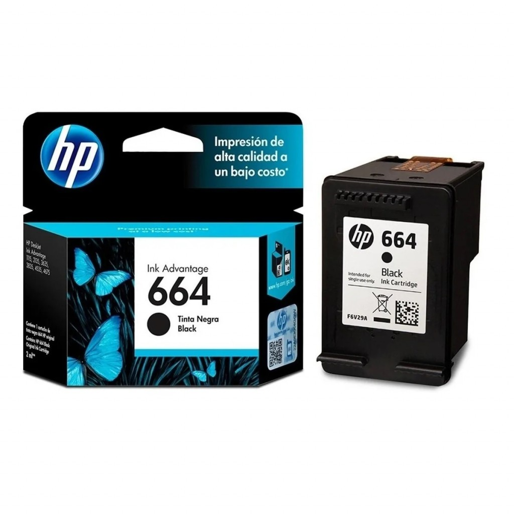 Cartucho hp 664 negro original